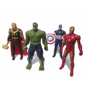 Kit Vingadores 4 Bonecos Hulk Capitão America Thor Avergens