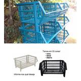 12 Gondola De Plastico.resistente.direto Fabrica Menor Frete