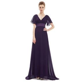 Vestido Largo Morado Fiesta Gala Matrimonio Mujer