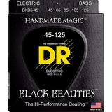 Dr Strings Cuerdas, Negro Bellezas Bass Negro Recubierto De