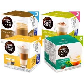 Pack 12 Cajas Nescafé Dolce Gusto Mix Café Lacteados Y Té