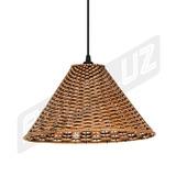 Luminária Pendente - Palha Artificial - Chapéu Chinês - 4878