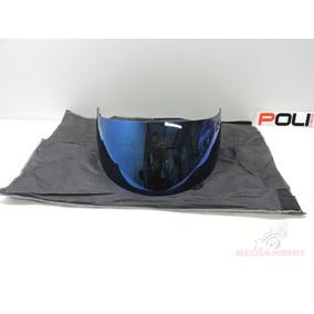 Viseira Capacete Compativel K3 K4 Azul Iridium 2.2 Polivisor