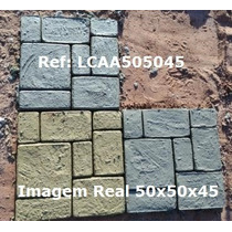 Forma Piso Jardim / Concreto 50x50x4,5 Com Manual