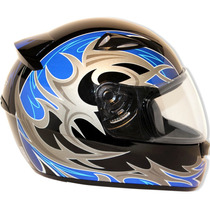 Capacete Moto Ebf New Spark Thor P02 Fechado 58 Preto E Azul