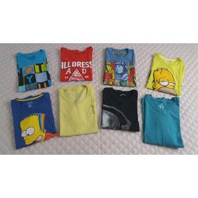 Camiseta Menino 08 Peças Variadas Seminovas Parcela S/ Juros