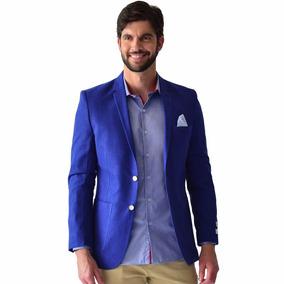 Saco Casual Hombre Corte Slim Fit Azul Rey Rack & Pack