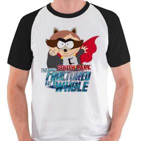 Camiseta South Park Cartman Coon Camisa Blusa Jogo Raglan