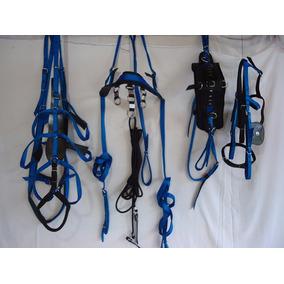 Arreio De Charrete De Nylon Top 7 - Azul C/ Preto