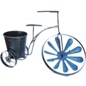 Adorno Portamaceta Bicicleta Vintage - Metal - 28cm X 40cm