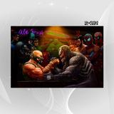 Poster Homem Aranha Hulk Batman Q1o Bane Vs Venon Decoracao