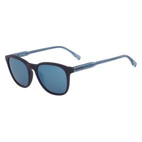 45eeee101d449 Óculos Lacoste L864s 424 Azul Fosco Lente Azul Flash Tam 5