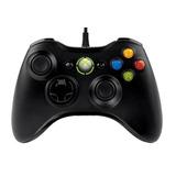 Control Xbox 360 Original Pc Y Consola Alambrico Usb - Negro