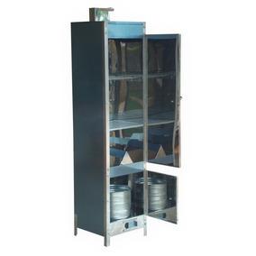 Defumador De Alimentos Profissional Em Inox Grande 160x41x41
