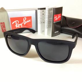 Oculos Quadrad Justin Masculino Rb 4165 Azul Espelhado Polar