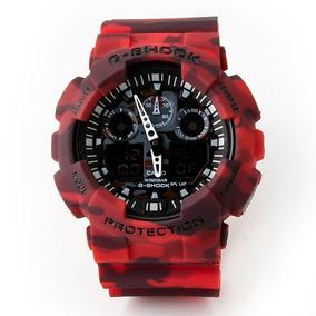 Reloj Casio G-shock Rojo Camuflajeado