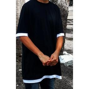 Camiseta Oversized Camisa Blusa Longline Swag - Rosa Tribal
