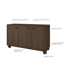 Mini Balcão Buffet 3 Portas Largura 90 Cm Para Sala De Esta