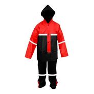 Impermeable Rojo Para Motociclista C/reflejantes Impermexa-