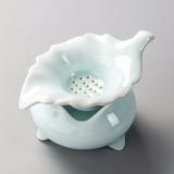 Copo Porcelana Chinesa Com Ifusor Filtro Coador Para Chá