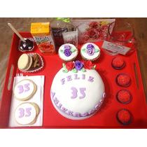 Desayuno Personalizado Cupcakes Amor - Todos Los Temas!!!