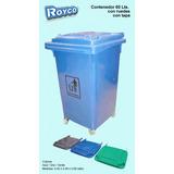 Contenedor Plastico De Residuos 60 Lts C/ Tapa Y Ruedas