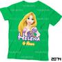 Lembrança De Aniversário Rapunzel Camiseta Enrolados