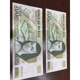 Billetes De 200 Pesos, Nuevos Unc, Distintas Series Y Años