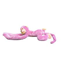 Macaco Macaquinho Pelúcia Para Pendurar Abraçar Cor Rosa