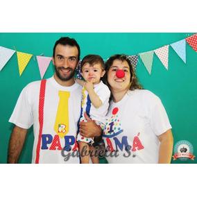Set Remera Familia Con Apliques: Payaso/a, Circo
