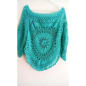 Hermosos Suéteres Y Chales Tejidos En Crochet