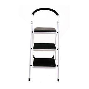 Escalera Banco 3 Niv Con Seguro Blanca Escalon Namaro Design