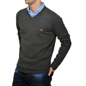 Sweater Pullover Algodon Escote V 14770 Hombre Mistral Inv18