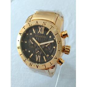 0c945343460 Relogio Masculino Dourado Atlantis Original