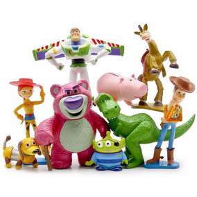 Kit 9 Miniatura Toy Story 8~9 Cm Woody Buzz Jessie Rex