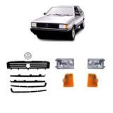 Kit Frente Gol Quadrado 87/90 Grade+emblema+farol+setas