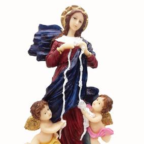 Imagem Nossa Senhora Desatadora Nos Escultura 20cm Resina