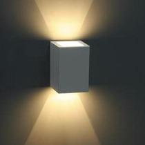 Kit 8 Luminária Balizador Arandela Facho Ext. Germany Branca