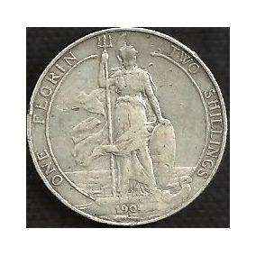 Inglaterra 1904 1 Florin 2 Shillings Plata 925 Rey Eduardo