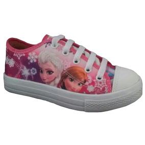 Tenis Feminino Infantil Meninas Frozen Elsa Anna Personagem