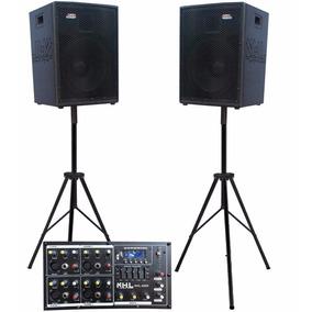 Par Caixas Acústicas 1x12 Fal Jbl + Cabeçote 500w 5ch Usb/sd