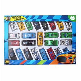 Coleção Mini Carrinhos Com 25 Peças Carro Miniatura
