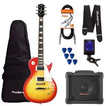 Kit Guitarra Les Paul Clp79 Cherryburst Strinberg + Cubo + A