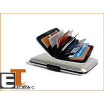 Cartera Billetera Aluma Wallet Porta Tarjeta Tienda Fisica