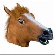 Mascara Caballo Loco Crazy Horse Original Latex Disfraz