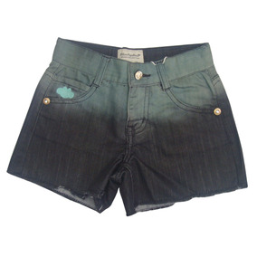 Shorts Bicolor Jeans , Desfiado [tm 6] (80100581)