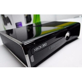 Xbox 360 Slim 4gb Semi Novo Bloqueado Original + Brinde