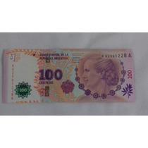3# Billete 100 Pesos Argentinos Evita Reposicion