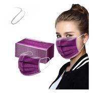 Mascara Descartável Pacote Com 50 Unidades Mulher