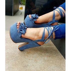 Tacones En Medellin - Zapatos para Mujer Azul acero en Mercado Libre ... b970667a575c